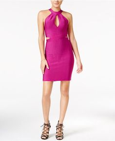 GUESS GUESS Mirage Cutout Halter Bodycon Dress
