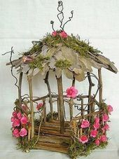 Fairy Garden Pavilion Natural unfinished wood decorate your own . , Fairy Garden Pavilion Natural unfinished wood decorate your own Indoor Fairy Gardens, Mini Fairy Garden, Fairy Garden Houses, Miniature Fairy Gardens, Wood Pavilion, Garden Pavilion, Garden Gazebo, Balcony Garden, Garden Table