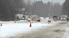 Snowmobile Drag Racing w/ Outlaws (Finish Line Camera)