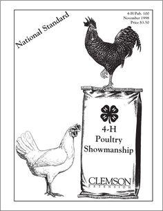 Poultry Showmanship National Standard -- 4-H publication