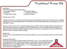 Prime Rib Recipe - Machine Shed Restaurant www.machineshed.com