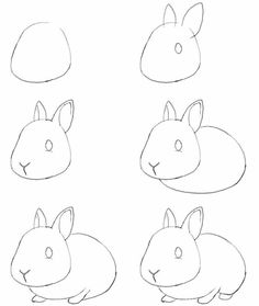 How to draw bunny. Learn to draw a cute bunny step by step images . Drawing Tips how to draw a bunny Drawing Lessons, Drawing Techniques, Art Lessons, Drawing Tips, Drawing Ideas, Art Drawings Sketches, Easy Drawings, Easy Sketches To Draw, Easy Animal Drawings