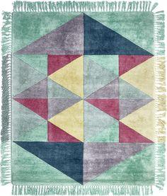 SITAP - Italian Fashion Design - Collezioni tappeti - tappeti Italian Design - tappeti Triangles tiffany