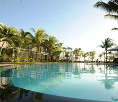 Swimming pool at Veranda Grand Baie, Mauritius.