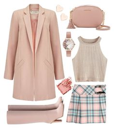 """""""Heavenly Blushed"""" by ayiarundhati ❤ liked on Polyvore featuring Miss Selfridge, Valentino, MICHAEL Michael Kors, Olivia Burton, Ted Baker and Bobbi Brown Cosmetics"""