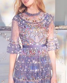 Get inspired and discover Needle & Thread trunkshow! Shop the latest Needle & Thread collection at Moda Operandi. Haute Couture Style, Vestidos Teens, Couture Dresses, Fashion Dresses, Pretty Dresses, Beautiful Dresses, Needle And Thread Dresses, Luxury Dress, Embellished Dress
