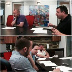 Our technology team strategizing during our most recent meeting. #Officelife #Recruiters
