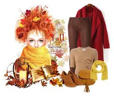 """Fall leaves"" by montse-gallardo ❤ liked on Polyvore featuring Koral, Dondup and Blugirl Folies"