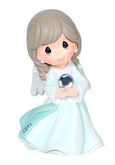 "Precious Moments, Birthday Gifts, ""April Birthstone Angel..."