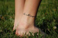 Latin script tattoo - ankle