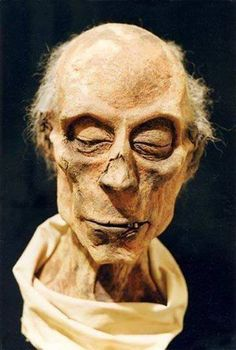 Preserved Mummy of Ramesses II, who died age 90 in 1213 BC. Housed at the Cairo Museum