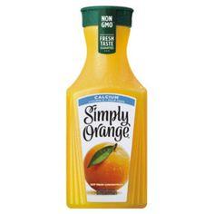 Simply Orange Pulp Free with Calcium and Vitamin D Juice - 52 fl oz Pineapple Juice, Orange Juice, Heart Healthy Recipes, Gourmet Recipes, Healthy Food, Calcium Vitamins, Juice Branding, Juice Drinks, Pomegranate Juice