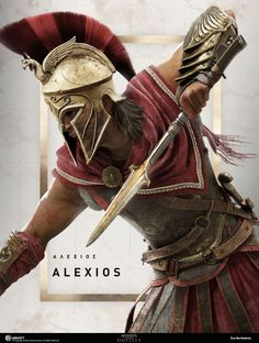 Image I did for the game Assassin's Creed Odyssey. Highrez model created by Ubisoft Helix team, design of the model by the production team. The Assassin, Assassins Creed Series, Erza Et Jellal, Spartan Tattoo, Foto Fantasy, Roman Warriors, Greek Warrior, Spartan Warrior, Warrior Tattoos