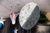 What space scene would be complete without a moon? More great VBS decorating resources can be found at http://group.com/vbsTools.