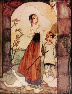Lo Specchio-Cielo: La Guardiana d'Oche, Grimm n.89, Traduzione Mia