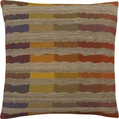 Sunset Stripe 20 Pillow in Decorative Pillows Puppy Crate, Den Decor, Home Design Decor, Home Decor, Pillow Sale, My Living Room, Dog Leash, Crate And Barrel, Bold Colors