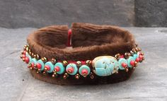 Items similar to Egyptian Scarab Luxury Dog Collar Handmade with Turquoise, Bronze, and Red Beads on Etsy Luxury Dog Collars, Egyptian Scarab, Bead Weaving, Glass Beads, Carving, Bronze, Turquoise, Pets, Friends
