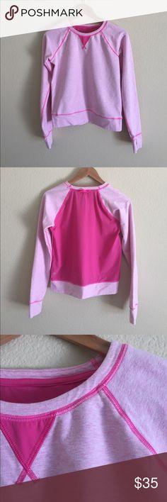 "{LULULEMON} SWEATSHIRT Heathered pink and raspberry ""Voyage"" pullover sweatshirt lululemon athletica Tops Sweatshirts & Hoodies"