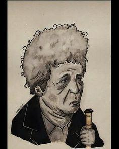 Neyzen Tevfik portre karikatür