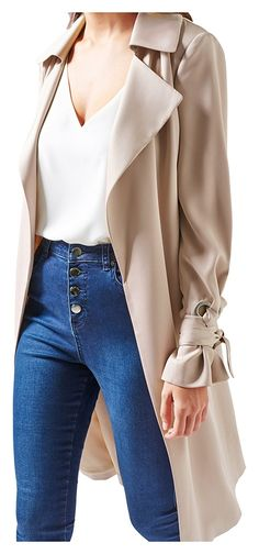 """One of the Historic and Classic Style outfit is """"Trench Coat"""". This is the only style, which can mix well with any attire. Formal, Semi formal or Party Wear Fall Fashion Outfits, Autumn Fashion, Trench Coat Style, Party Wear, Classic Style, Duster Coat, Most Beautiful, Formal, Stylish"""