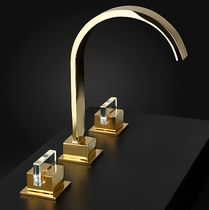 Washbasin double-handle mixer tap / chrome / for bathrooms / 3-hole