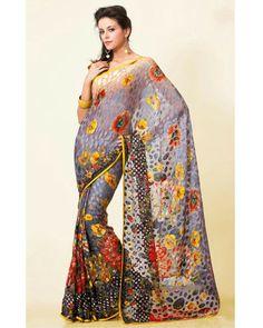 Stylelok SL 200086 Multicolour Brasso Fashionable Saree