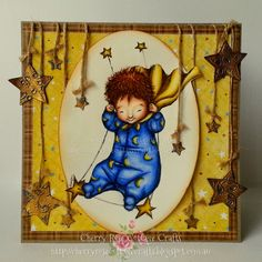 "Cherry Rose Cottage Crafts: Welcome Baby w/ ""Swing Star Boy"""