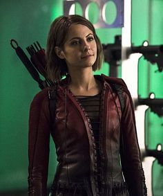 Thea Queen Red Arrow Speedy Leather Jacket