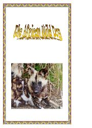 St Aidens ~African Animal Activity Books