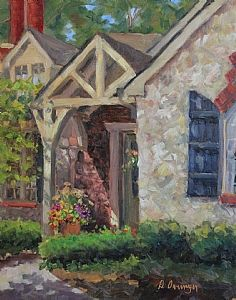 Welcome Home by Diane Overmyer Oil ~ 14 x 11