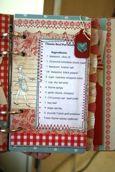 Homemade Recipe Books, Homemade Cookbook, Diy Recipe, Foto Gift, Book Crafts, Paper Crafts, Diy Crafts, Scrapbook Recipe Book, Planners