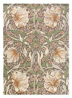 William Morris - Pimpernel in Aubergine Contemporary Area Rugs, Modern Area Rugs, William Morris, Kathy Ireland, Ireland Uk, Hand Tufted Rugs, Burke Decor, Floral Rug, Arts And Crafts Movement