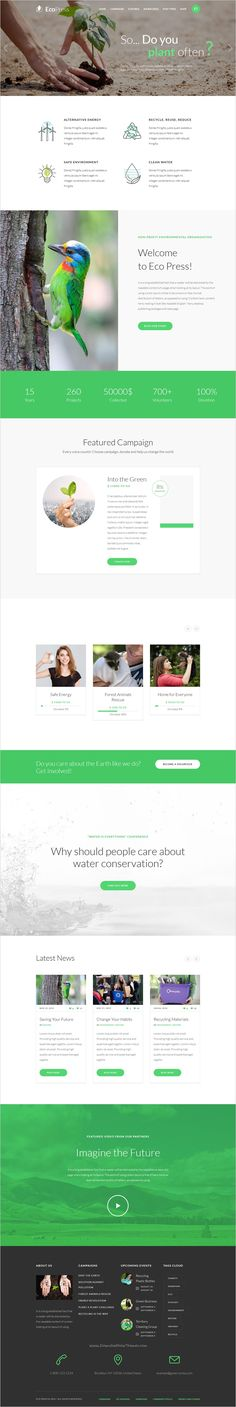 Eco Press is an beautifully design #WordPress template for #nature, #ecology and NGO website download now➯ https://themeforest.net/item/elections-campaign-political-wordpress-theme/17456181?ref=Datasata