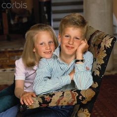 About the British Royals:  Zara and Peter Phillips as children