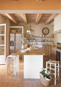 New Kitchen Colors Warm Floors 46 Ideas Rustic Kitchen, New Kitchen, Kitchen Dining, Kitchen Decor, Summer Kitchen, Kitchen Country, Kitchen Ideas, Kitchen Sink, Kitchen Themes