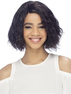 The Angelica Human Hair Wig by Vivica Fox is a 10 tight wavy bob with an invisible side part. Made with real Remi natural hair and features a pure stretch cap. With an invisible side part. A full and voluminous style that is perfect for a vacation. Dark Chocolate Brown Hair, Coffee Brown Hair, Coffee Hair, Dark Brown, Blonde Balayage Highlights, Brown Hair With Blonde Highlights, Brown Hair Shades, Brown Hair Colors, Mocha Hair