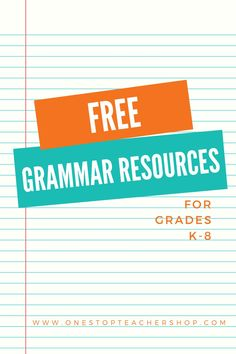 A collection of FREE Grammar Resources for teachers! These printable and digital Grammar Practice activities are perfect for daily review, language arts centers, distance learning, homework, morning work, and more! Be sure to download them all! Available for 1st Grade, 2nd, 3rd, 4th, 5th, 6th, 7th, and 8th. Grammar Games, Grammar Practice, Grammar Activities, Teaching Grammar, Teaching Writing, Grammar Review, Teaching 5th Grade, Middle School Teachers, Word Study