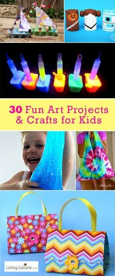 30 Fun Art Projects and Crafts for Kids {Kids}