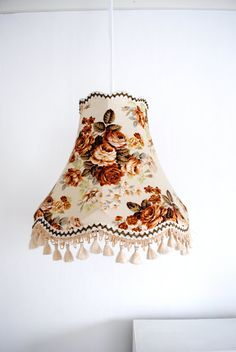 How difficult might it be to make tiny lampshades like this to wear as dangly earrings?!