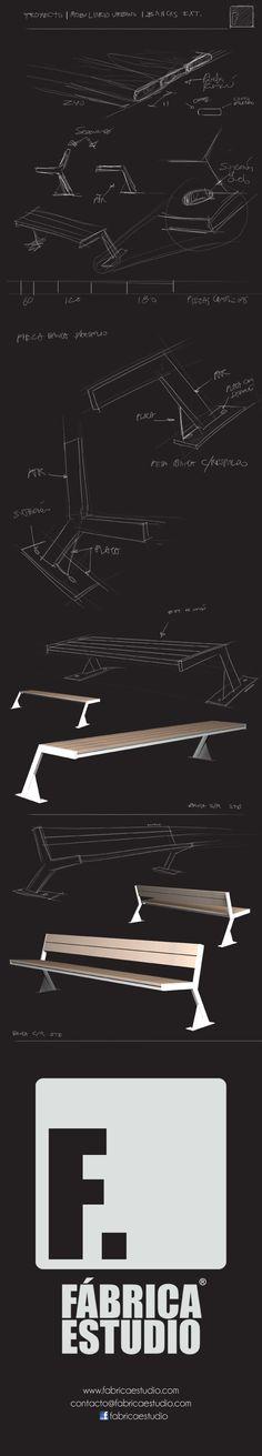 FABRICA ESTUDIO   PROCESO CREATIVO | MOBILIARIO URBANO | BANCAS www.fabricaestudio.com  #design #diseno #benche #banca