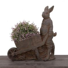 Urban Designs Standing Bunny Novelty Pot Planter Color: Brown