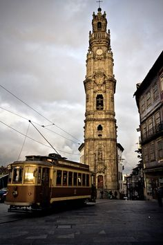 Torre dos clérigos, Oporto Portugal  Travel to Porto in Portugal to enjoy the architecture and beauty of the city.  --  Have a look at http://www.travelerguides.net