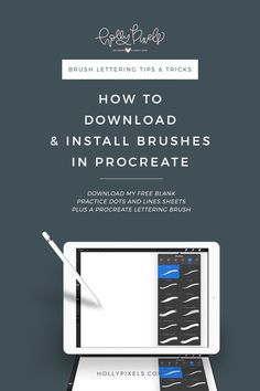 There are a plethora of gorgeous brushes for Procreate on the market, free and for sale. Let me show you how to install brushes in Procreate for brush lettering so you can do it quickly and get to lettering! Download these free practice sheets and a free procreate brush at hollypixels.com. via @hollymccaig
