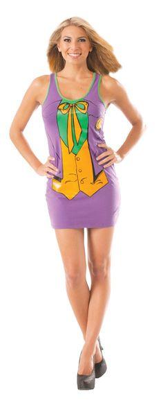 Rubie's DC Comics Justice League Superhero Style Adult Dress with Cape The Joker, Purple, Medium Costume