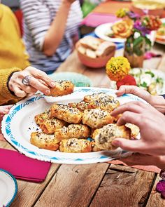 Sausage, cider and apple filo rolls with mustard mayonnaise | Sausage rolls, but not as you know them – the meat is flavoured with apples and sage, wrapped in crunchy layers of filo pastry and ready for dunking in a mustard mayo.