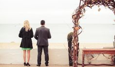 Wedding guests at Sandbanks Beach wedding. Photography by one thousand words wedding photographers
