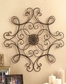 French Wrought Iron Wall Medallion for indoor or outdoor decor $27