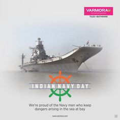 We're proud of the Navy men who keep dangers arising in the sea at bay Indian Navy Day. Indian Navy Day, National Days, Navy Man, Faucet, Tiles, Sea, Wall Tiles, Tile, Ocean