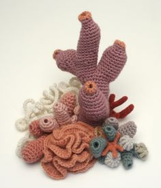 I love the natural flow of this crochet coral garden...so awesome.