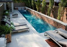Ideas Backyard Modern Landscaping Small Pools For 2019 Backyard Pool Designs, Small Backyard Pools, Modern Backyard, Modern Landscaping, Patio Design, Backyard Patio, Backyard Landscaping, Backyard Ideas, Landscaping Ideas